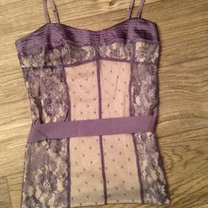 Victoria's Secret Purple Belted Top, Size M