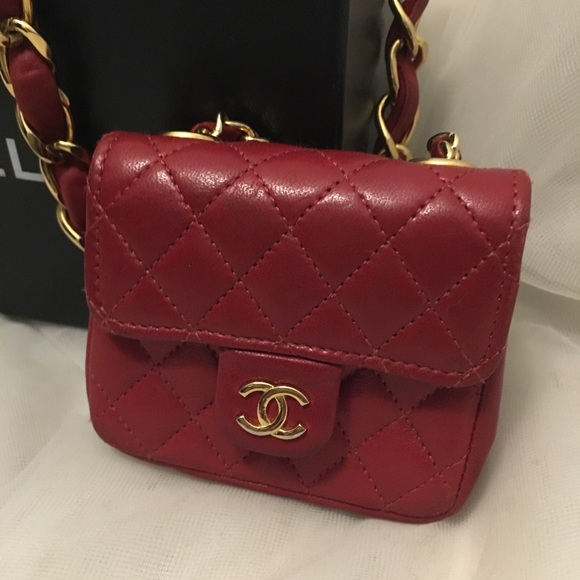 CHANEL - Chanel Red Quilted Leather Belt Bag from Jessie's closet ... : red quilted chanel bag - Adamdwight.com