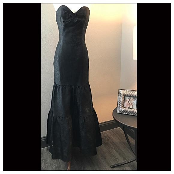 Black Strapless Mermaid Dress