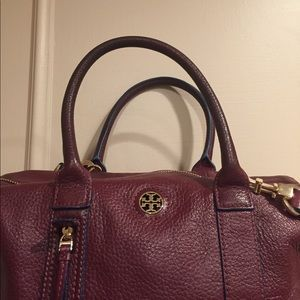 e43285cf30c Tory Burch Bags - Tory Burch Berry Oxblood Mini Leather Duffle Bag
