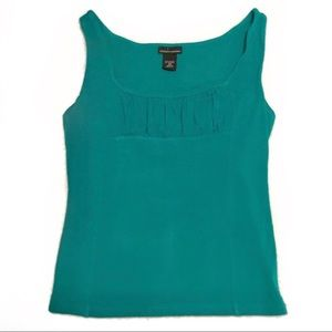 Sexy curve hugging tank top with gathered front