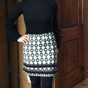 Mini Merona Skirt. Black / white Sz.2