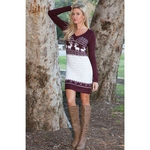 🆕️..Festive Sweater Dress