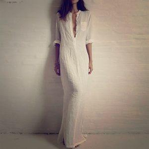 Dresses - Boyfriend Tee Shirt Maxi Slit Dress