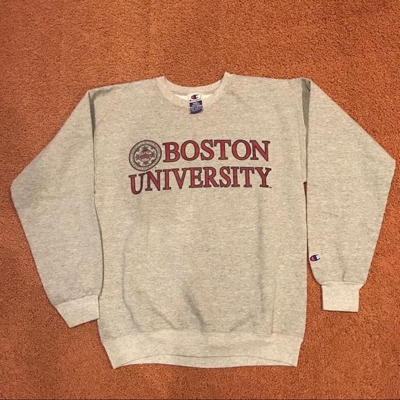 Champion Sweaters Vintage 80s Boston University Crewneck Poshmark