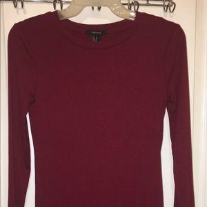 Forever 21 Bodycon Dress Burgundy Size Medium
