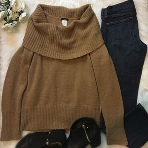 Off the Shoulder Camel Colored Sweater