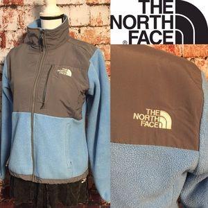 {The North Face} baby blue & gray Denali jacket