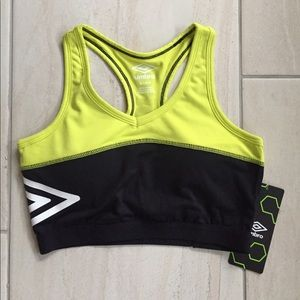 a04d2ff674 Umbro Intimates   Sleepwear - Umbro black and neon padded sports bra size  small