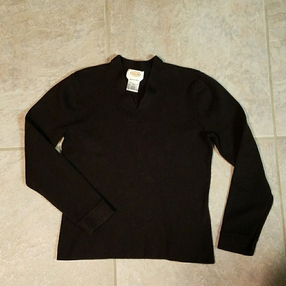 81% off Talbots Sweaters - Talbots black heavy cotton sweater from ...