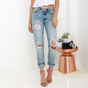 Cotton On ripped boyfriend jeans