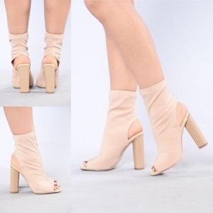 Shoes - Kingdom Rise Boot - Nude