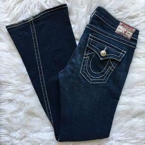 True Religion Joey Big T Dark Wash Flare Jeans 31