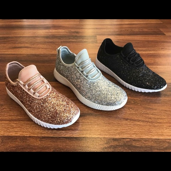 258af6e969339 NEW Silver Glitter Bomb Sneakers Boutique