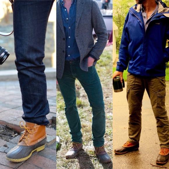 "LL Bean Boots Men's Wide EW Vintage 9? Duck 6"""