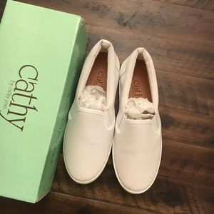 NWT White loafers