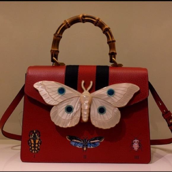 ad565e550dc Gucci Falena Medium Moth Top-Handle Bag