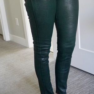 Frame Le Skinny Leather Trousers
