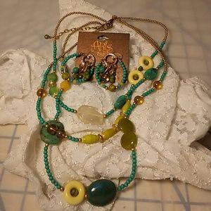 BOGO ***** 3 strand Treska Brand Necklace set