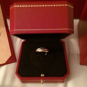 Authentic Cartier Trinity rings
