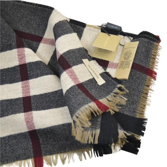 8393d4ab389 Burberry Accessories - Burberry reversible check wool scarf (new)