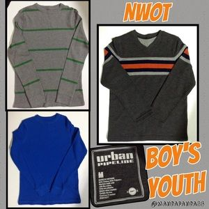 Boys Med Thermal Tops & Sweater NWOT