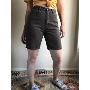 Vintage✨80s 90s brown mom jean shorts