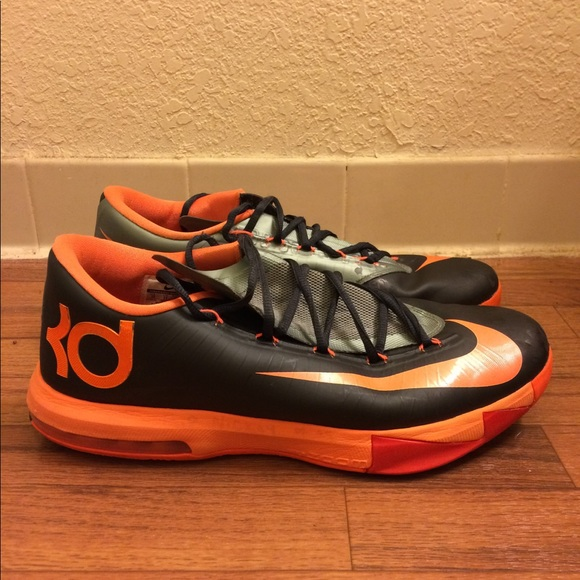 6873d66d2c80 Nike KD 6 VI Anthracite Total Orange Size 12. M 5a0163984225bec4e300fdcd