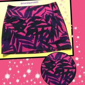 Express Design Studio SEXY Zebra Mini Skirt