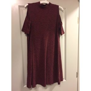 Turtle neck dress with cut out shoulders Christmas