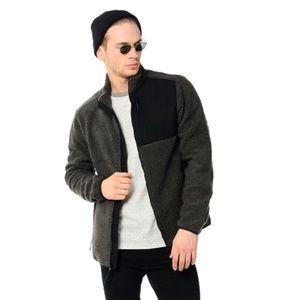 Aeropostale Mens Fleece Full-Zip   Jacket S Gray