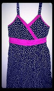 Blk/White/Pk Pkdt Dress