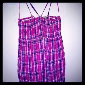 Pink/Navy Plaid Dress