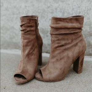 🆕NOW AVAILABLE! Charlie Vegan Suede Taupe Booties