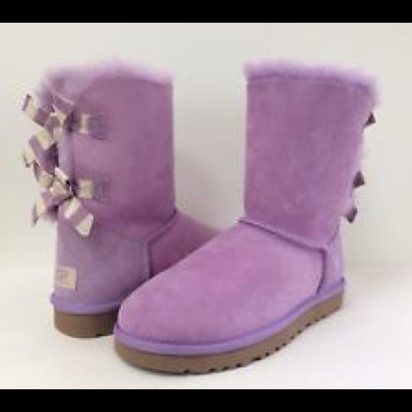 605b582b95d Ugg Lavender Bailey Bow Stripe Boots Size 9 NIB