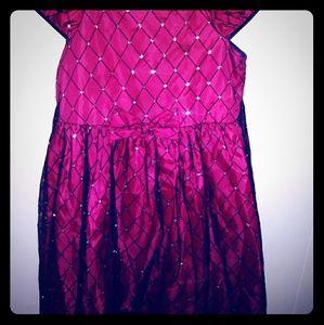 Formal Red/Blk/Slvr Dress