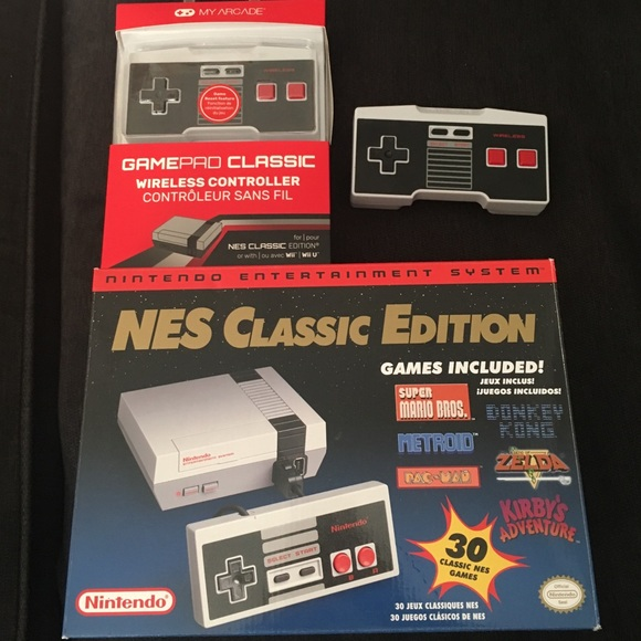 Nintendo Other Nes Classic With Two Wireless Controllers Poshmark