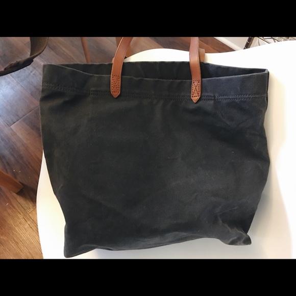 Madewell Handbags - Madewell Canvas Transport Tote—Black Sea 78bd70d703c44