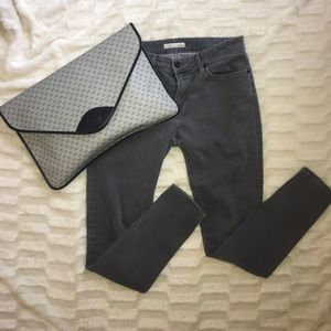 Joie gray mid rise skinny jeans 28 6 grey