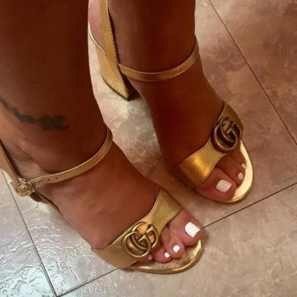 44a076f3a1a05 Gucci Marmont Block Heel Sandals. M 5a01c0bf9c6fcf96e801b1b2