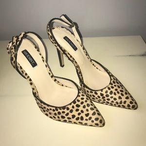 Shoemint Karla Leopard Sling Back Pumps Size 7