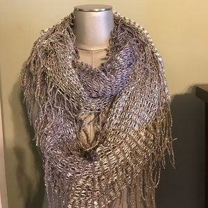 Accessories - NWT Purple gold sequin fringe infinity scarf