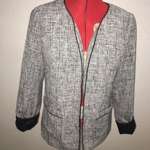 Black & White Tweed Blazer