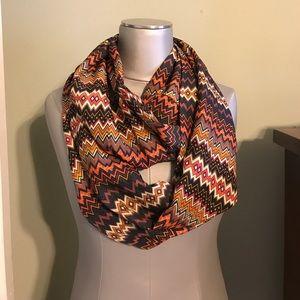 Accessories - NWOT shades of brown cream orange infinity scarf