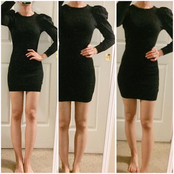 83f1405d Zara Dresses | Trendnew Puff Sleeves Slim Dress Lbd | Poshmark