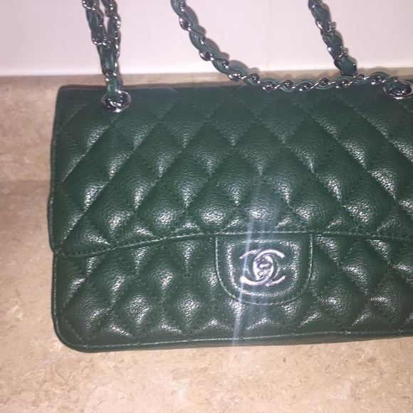 bc1705bc692f CHANEL Handbags - Olive green chanel classic bag for sale