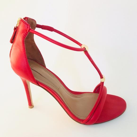 574c4d5fb94 BCBGMaxAzria Shoes - BCBGMAXAZRIA Nixie Red Leather T Strap Heel