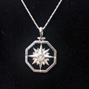 Jewelry - Silver Compass Necklace