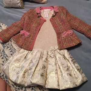 Biscotti Dresses - New Holiday Dress Jacket Set 4T