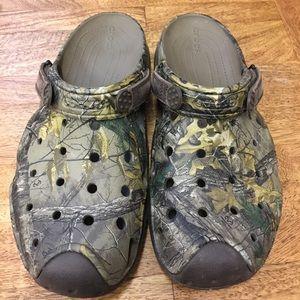 Brand new camo crocs (men's size 11)